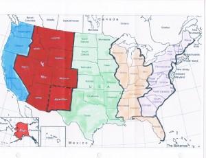 America Governmental Zones or Regions